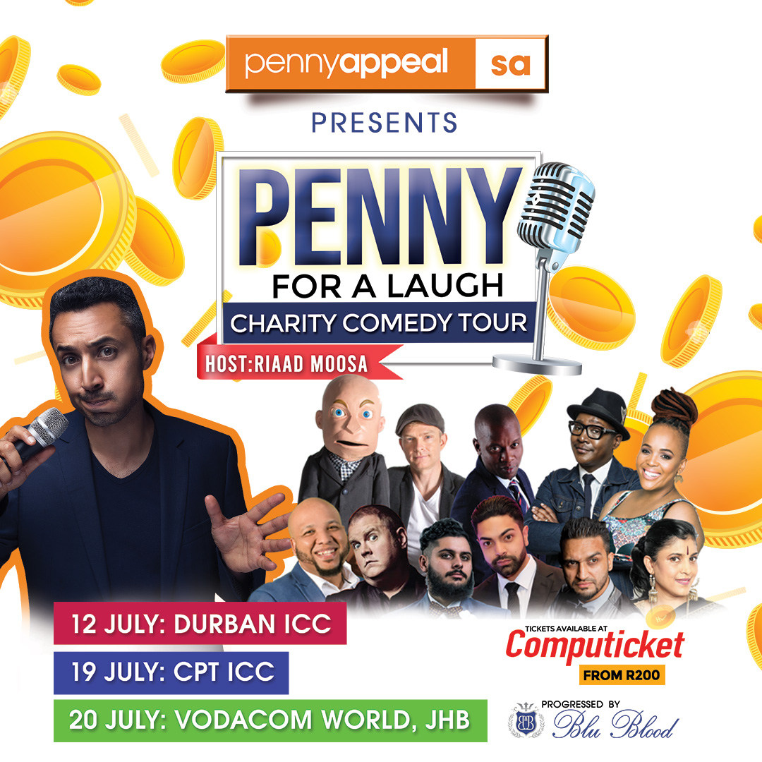 Pennyappeal South Africa presents 'Penny for a laugh Charity Comedy Tour'